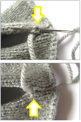 Knitting Stitches Joining Seams : How to sew seams in knitting using mattress or ladder stitch