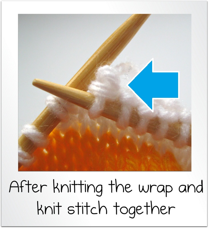 Knit Wrap Stitch Together : How to wrap and turn and knit short rows