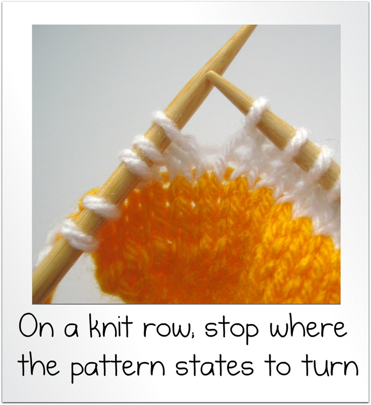 How to wrap and turn and knit short rows