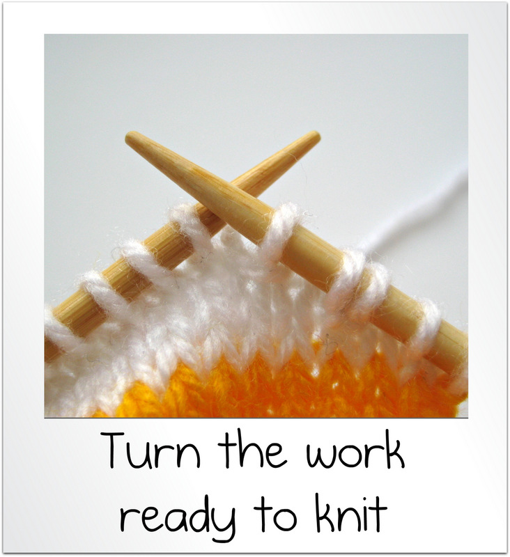 Knitting Wrap And Turn Pick Up : How to wrap and turn knit short rows