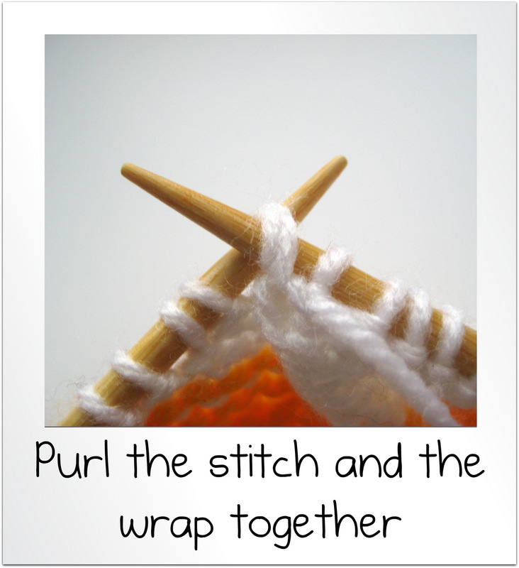 Knit Stitch And Wrap Together : How to wrap and turn and knit short rows