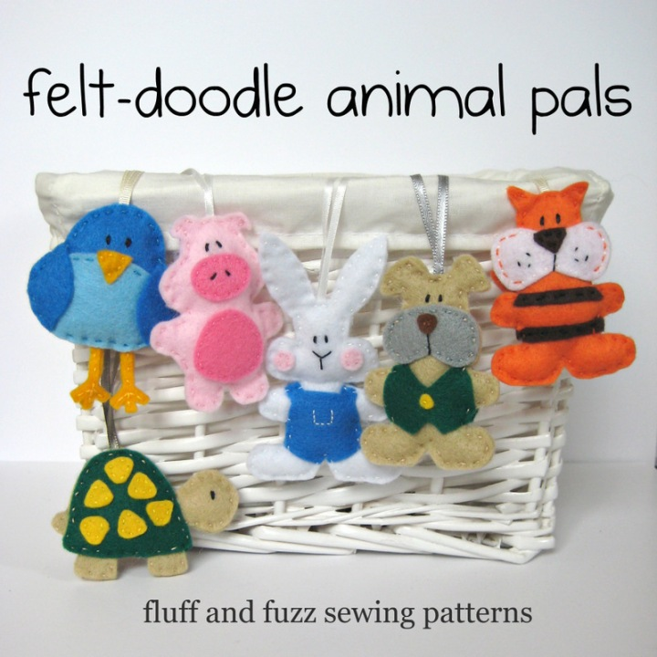 felt doodle animals cover