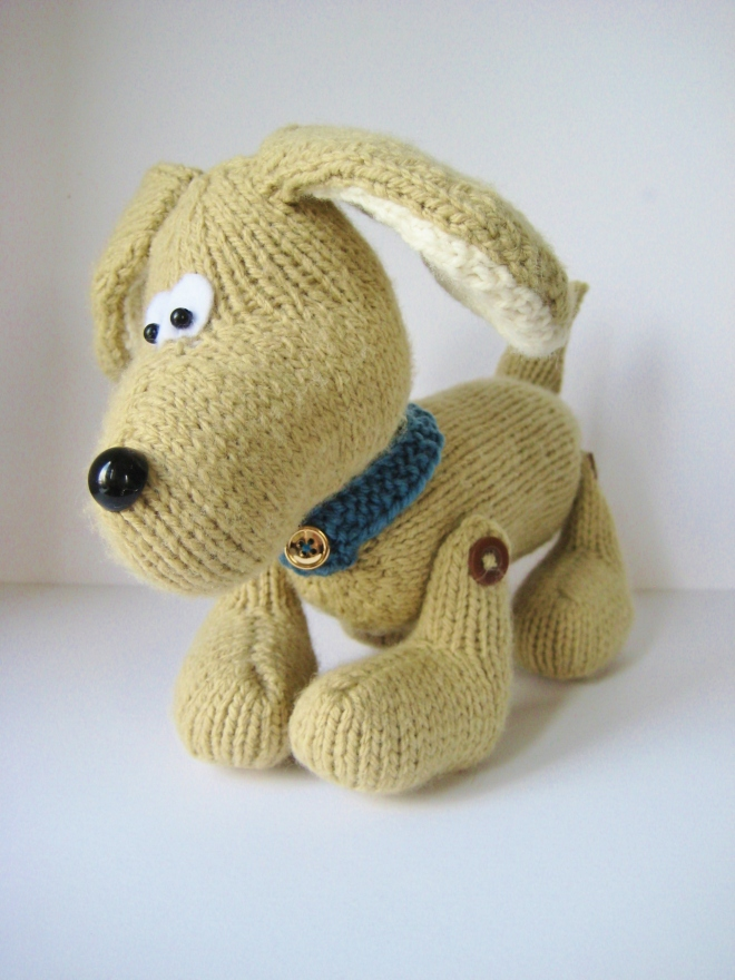 Free Knitting Pattern Toy Puppy :  knitting pattern designs by Amanda Berry
