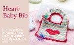 Love Heart Baby Bib